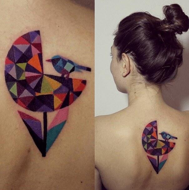 tatuajes de color poligonales8