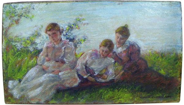 Falsificación de Mark Landis de una obra del pintor impresionista americano Charles Courtney Curran