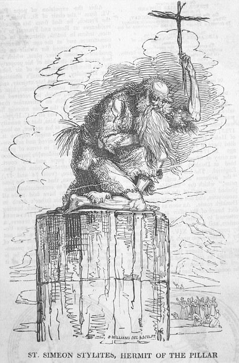 monje sobre pilar de piedra 13