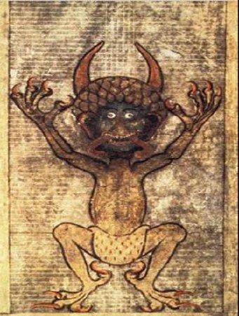 Manuscrito-medieval-retrata-o-Diabo-com-tintas-grotescas