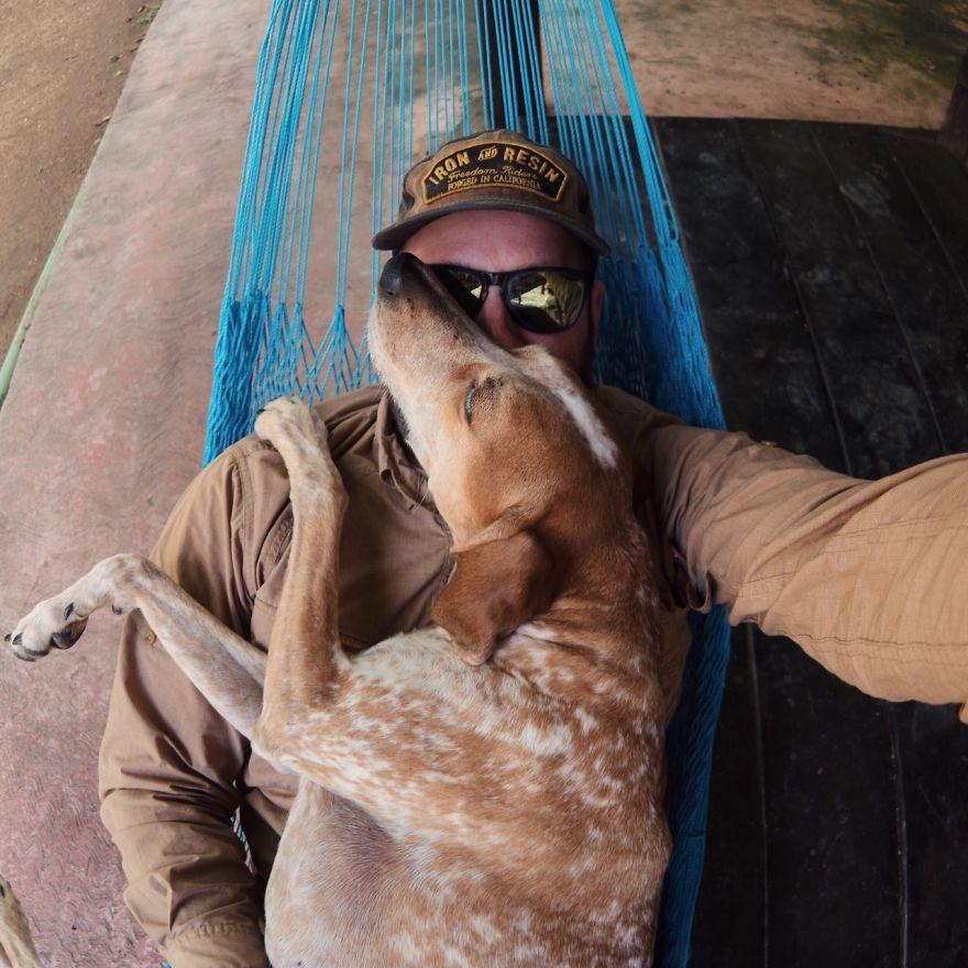 Perro y fotografo viaje 12