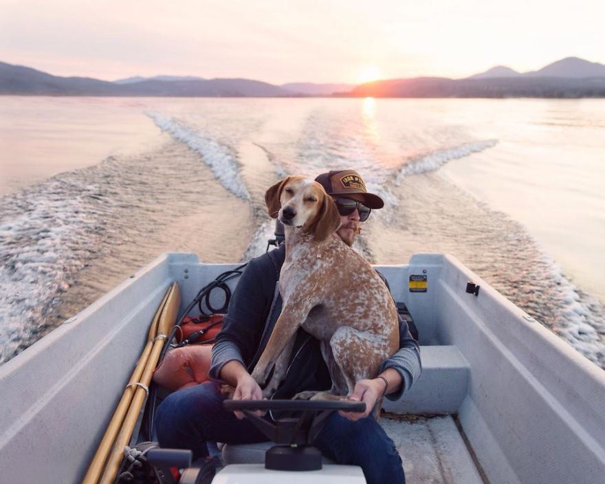Perro y fotografo viaje 14