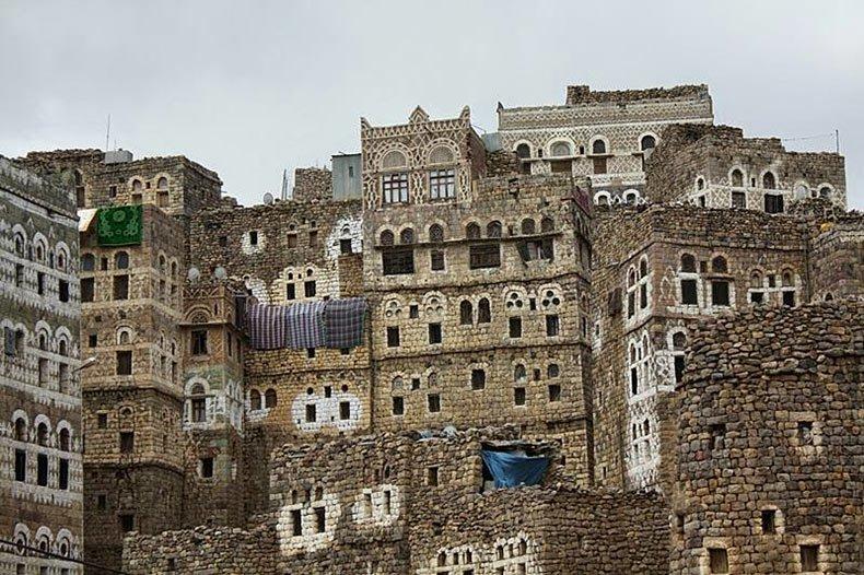 al hajjarah yemen pueblo edificios (2)