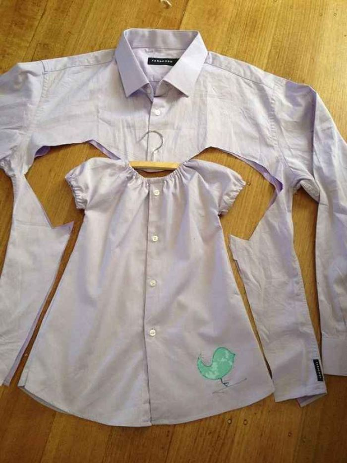 camisas a vestidos infantiles 2