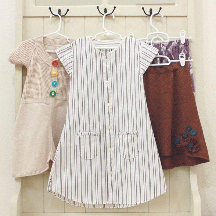 camisas a vestidos infantiles 4