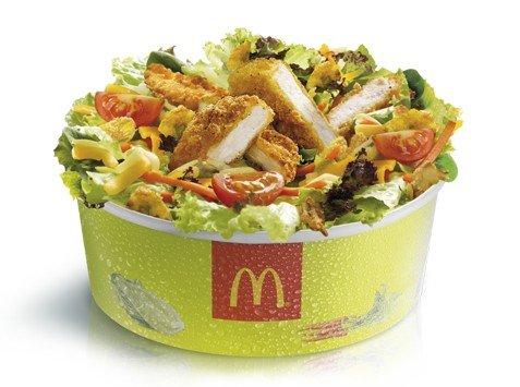 Resultado de imagen de ensalada mcdonalds