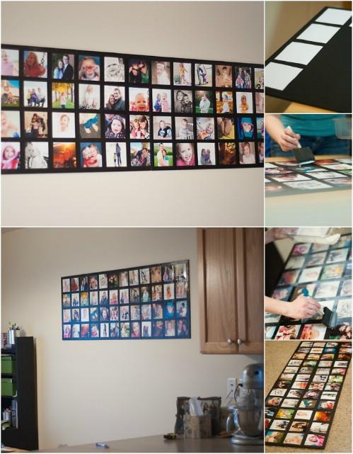 20 originales maneras de decorar con fotograf as que for Un mural facil de hacer