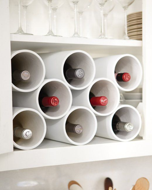 vinoteca económica con tubos de pvc