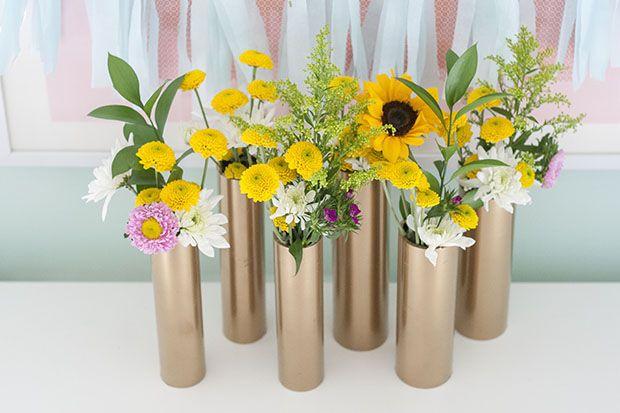 jarrones para flores reciclados