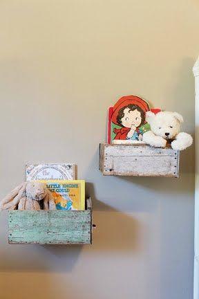 cajas decorativas en pared