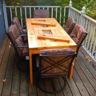 mesa de jardin con cubitera 11