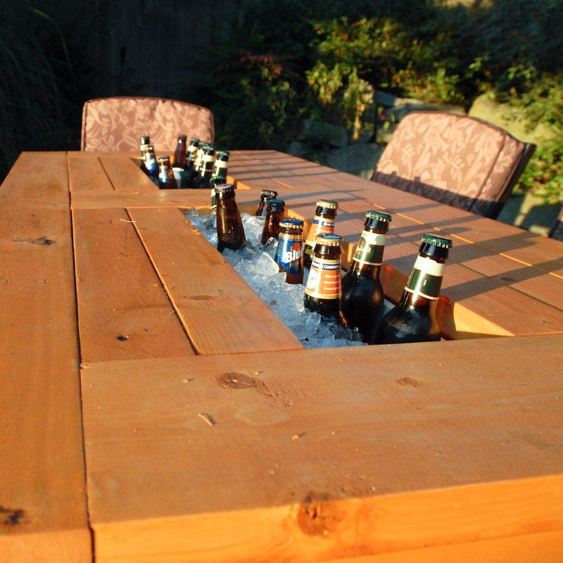 mesa de jardin con cubitera 12