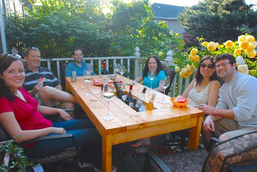 mesa de jardin con cubitera 14