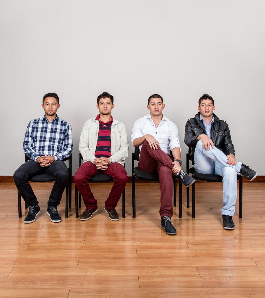De izquierda a derecha: Jorge Enrique Bernal Castro, William Cañas Velasco, Carlos Alberto Bernal Castro y Wilber Cañas Velasco por  Stefan Ruiz para The New York Times
