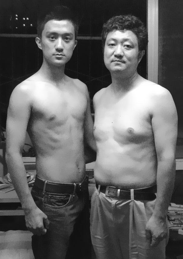 29 años haciendose fotos con su hijo 22