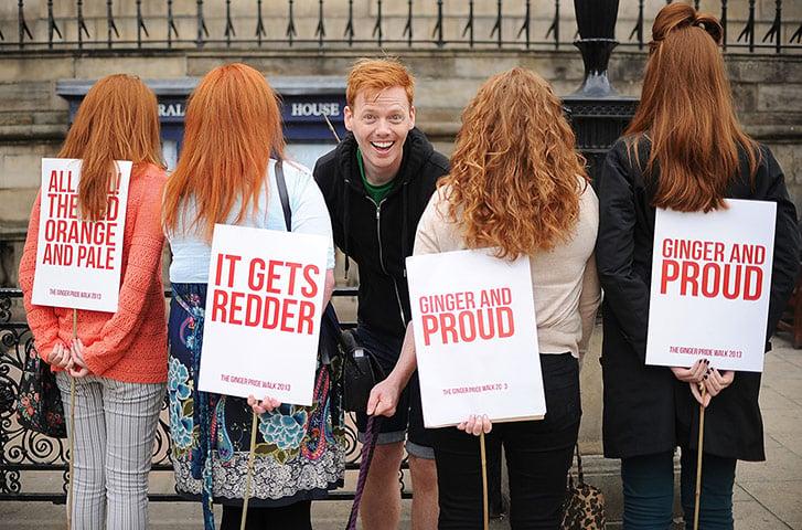 The Ginger Pride Walk In Edinburgh