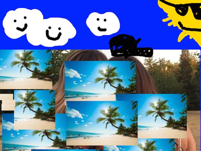 chicas photoshop playa 22