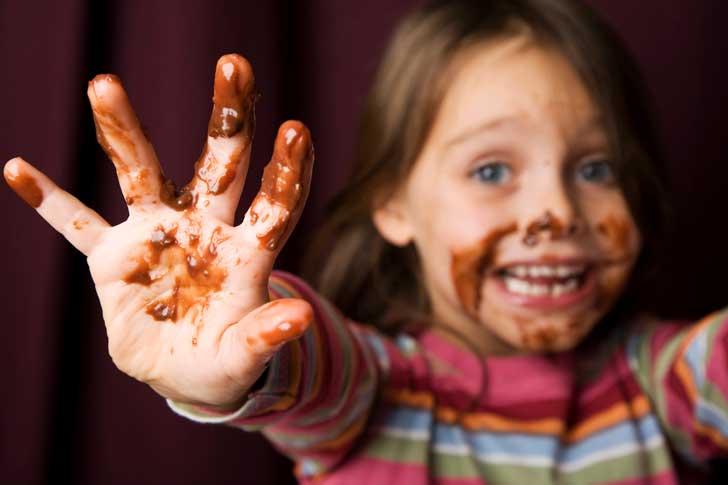 niña chocolate