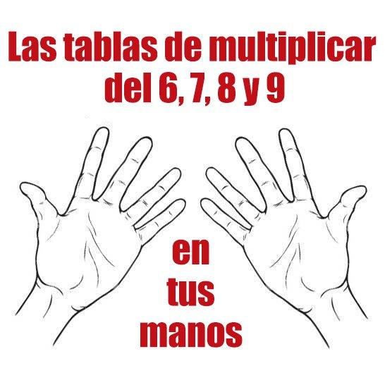 tablas de multiplicar en mano 1