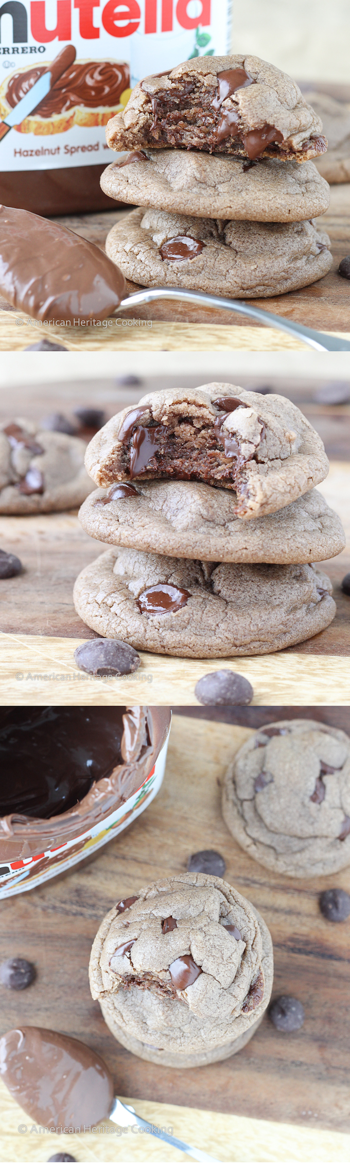 Soft-Nutella-Chocolate-Chip-Cookies-Collage