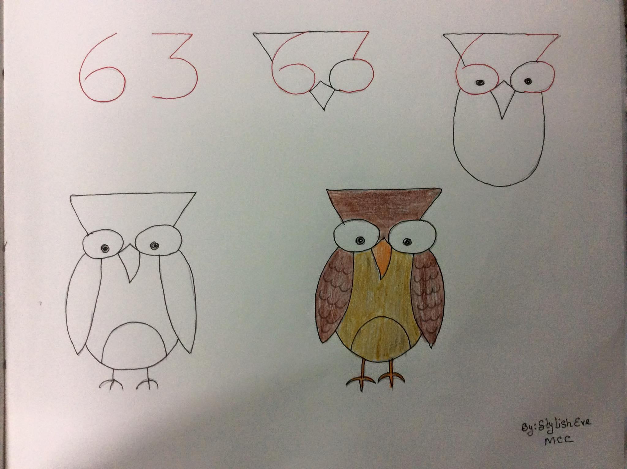 aprende a dibujar con numeros y letras 8
