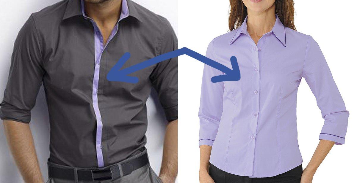 Sabes por qué las mujeres tienen los botones de la camisa a