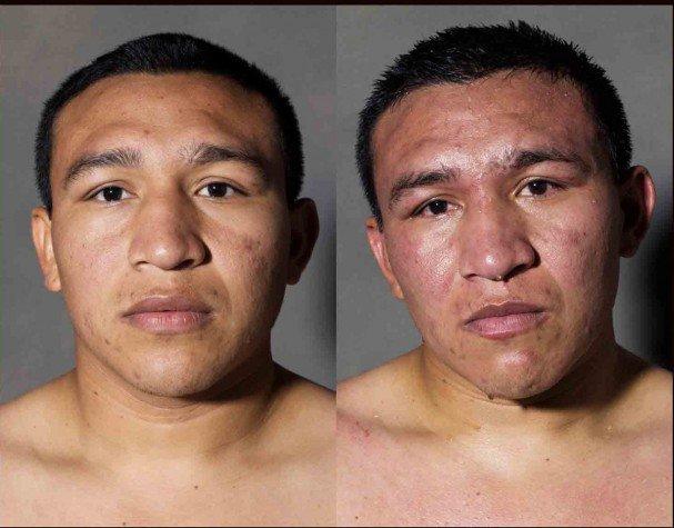 boxeadores antes y despues de un combate 7