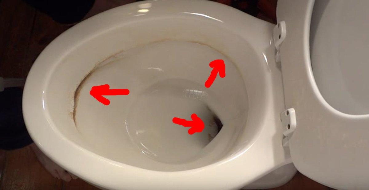 c mo limpiar las manchas de xido y cal del w c y dejarlo
