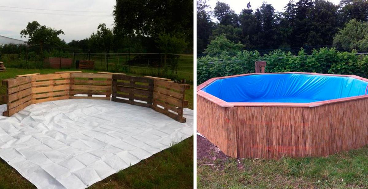 piscina casera con palets