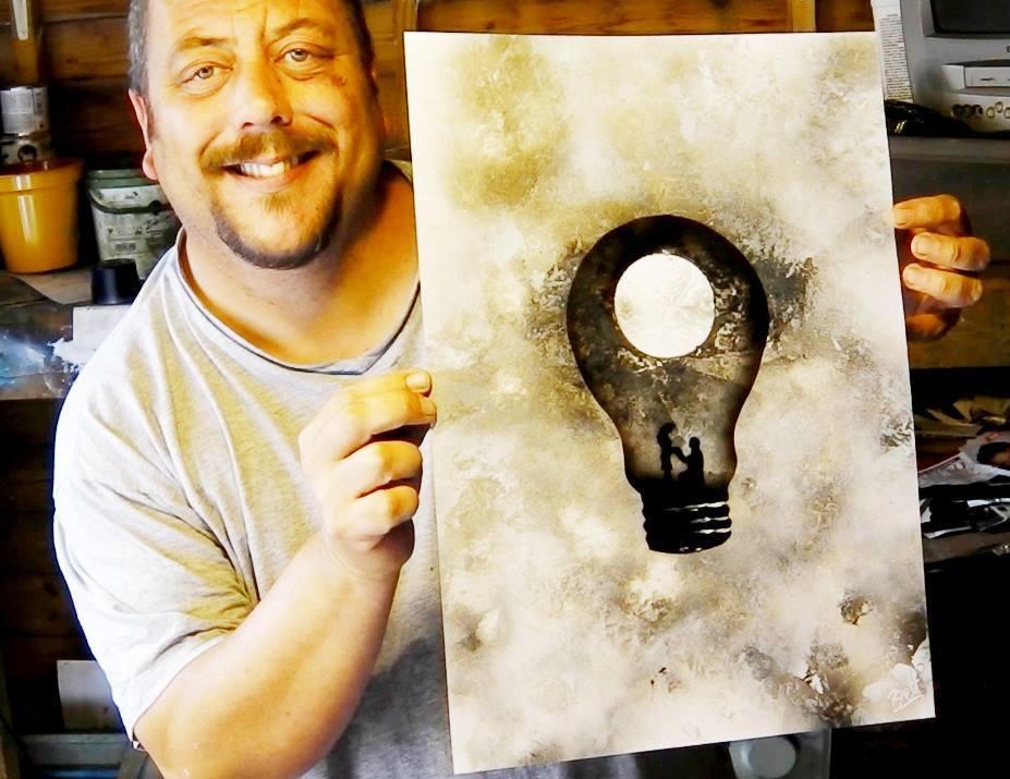 Este es Brett y esta es una de sus ideas plasmada en papel