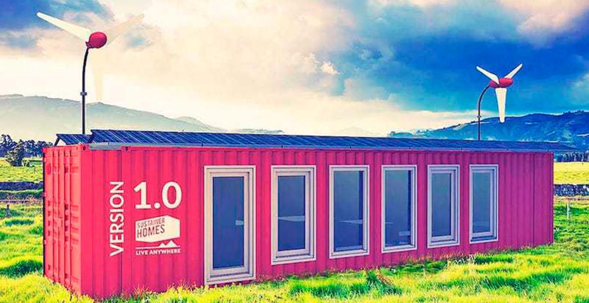 casas sostenibles en contenedores de barco