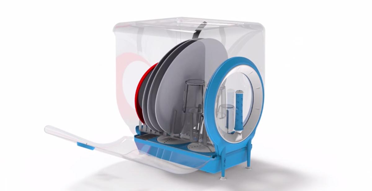 circo independent el lavavajillas que funciona con manivela