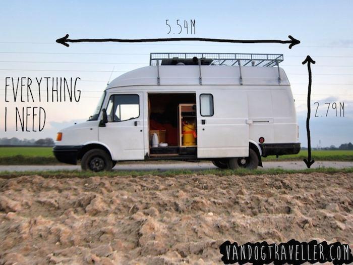 como convertir una vieja furgoneta en una caravana casa con ruedas 1