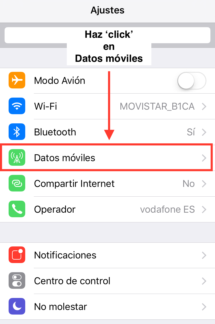 desactivar asistencia wifi apple iphone 2