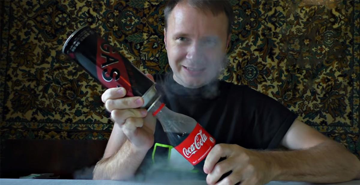 fabricar misil cohete casero con coca cola y propano