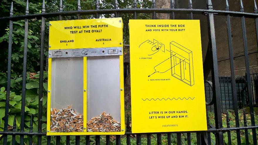 ideas para evitar que la gente tire cigarrillos y chicles al suelo 2