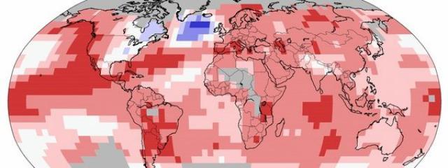 La zona azul es el lugar donde las temperaturas en vez de subir, están bajando.