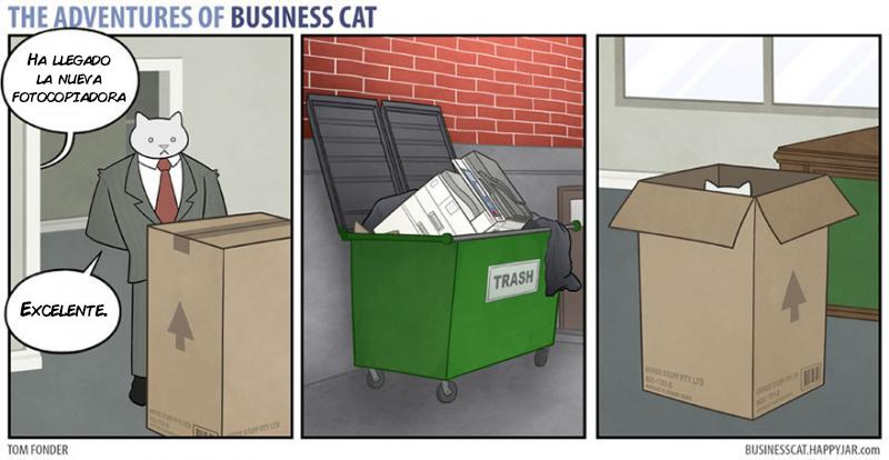 las aventuras de un gato jefe 8