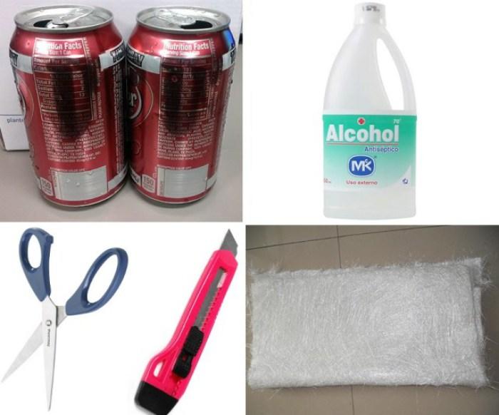 minicocina con 2 latas de refresco y alcohol 2