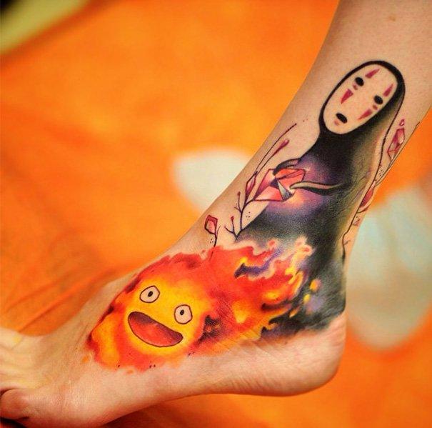 tatuajes del estudio ghibli 16