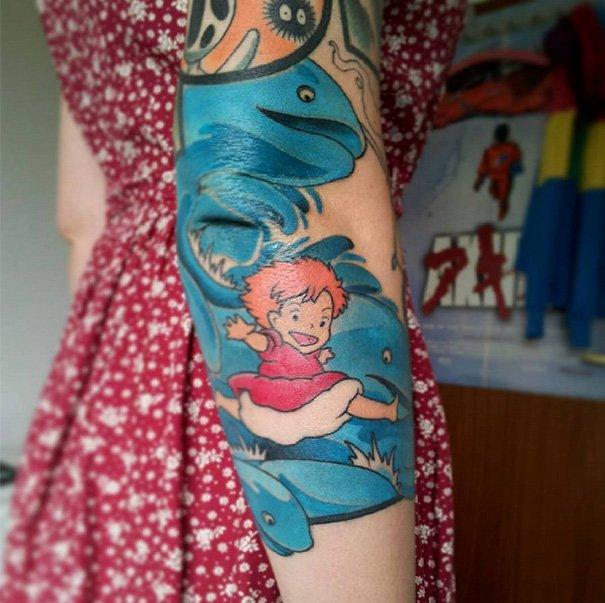tatuajes del estudio ghibli 17