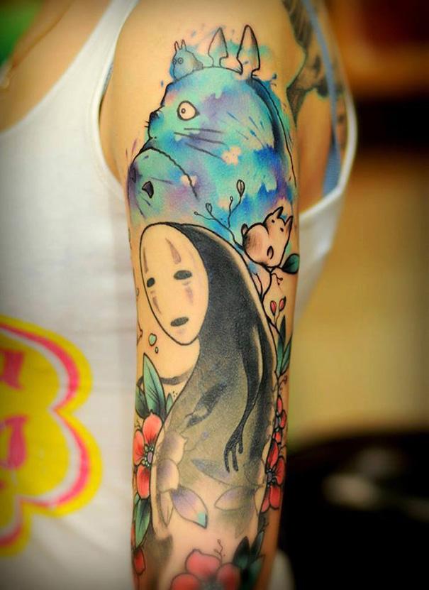 tatuajes del estudio ghibli 5