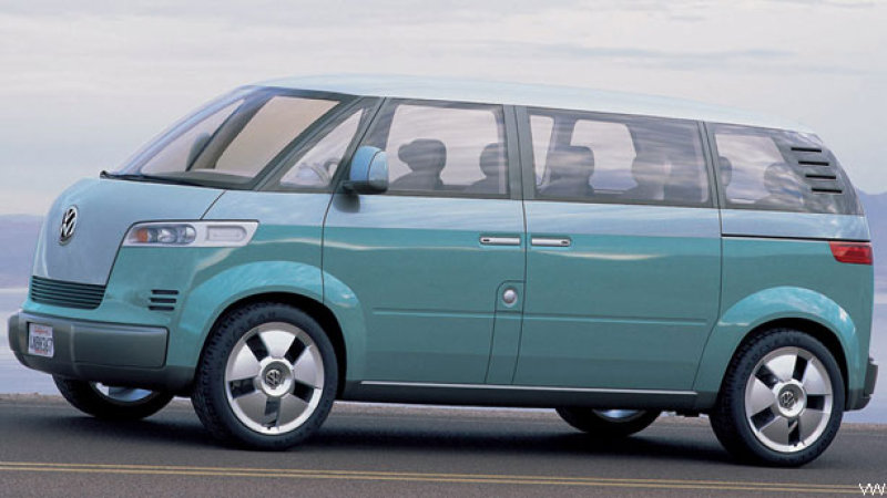Volkswagen Microbus Concept 2001. Jamás llegó a salir al mercado.