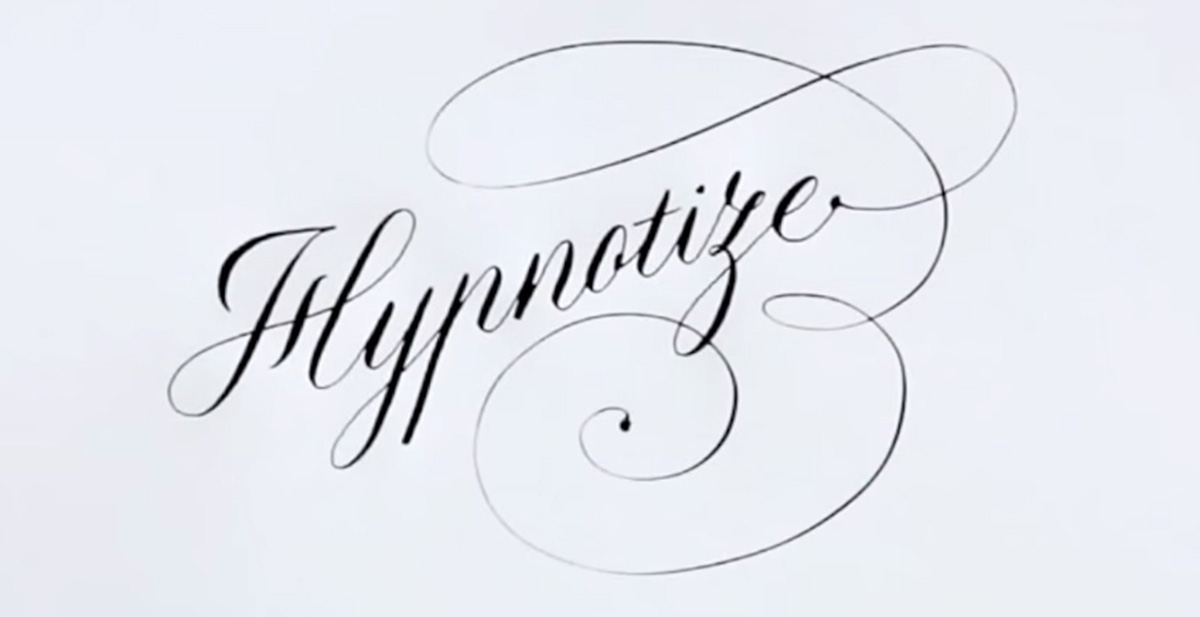 caligrafia hipnotica