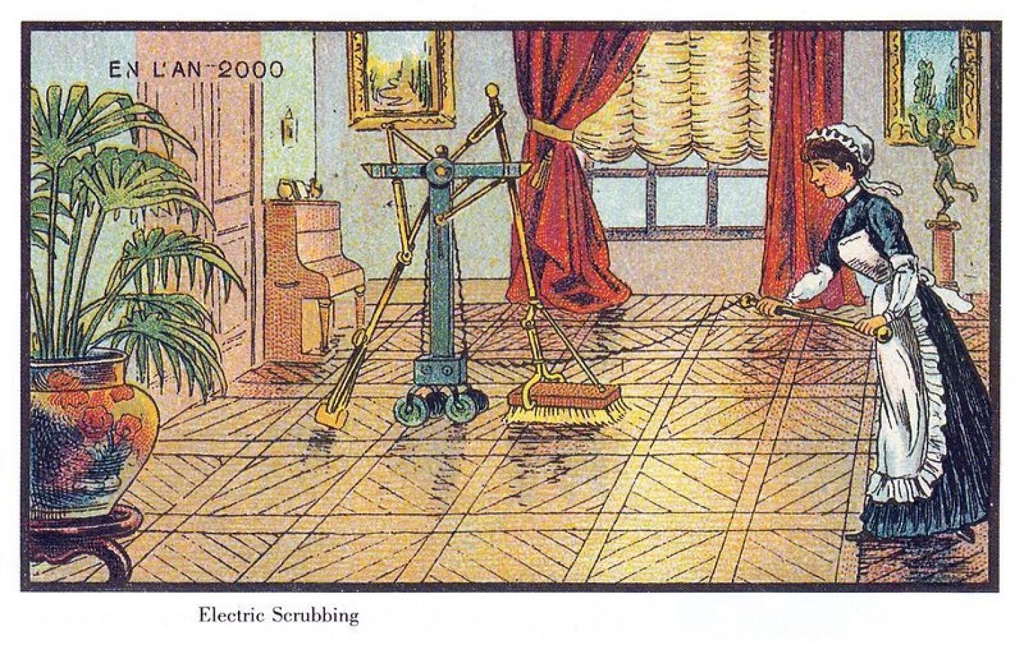 como imaginaban el futuro en 1900 ilustraciones 1