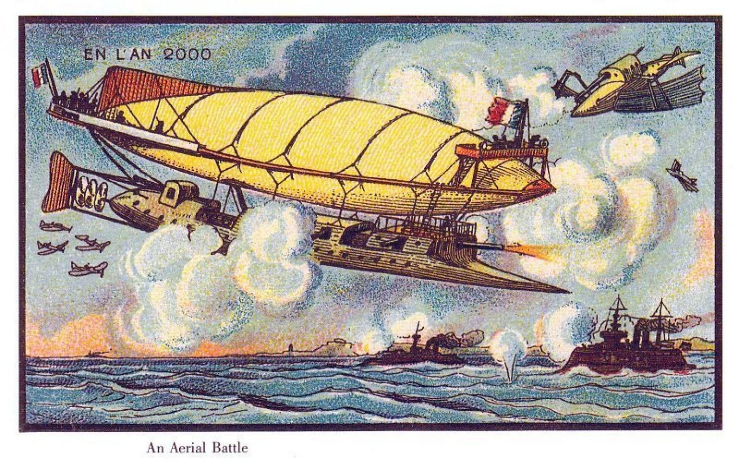 como imaginaban el futuro en 1900 ilustraciones 11