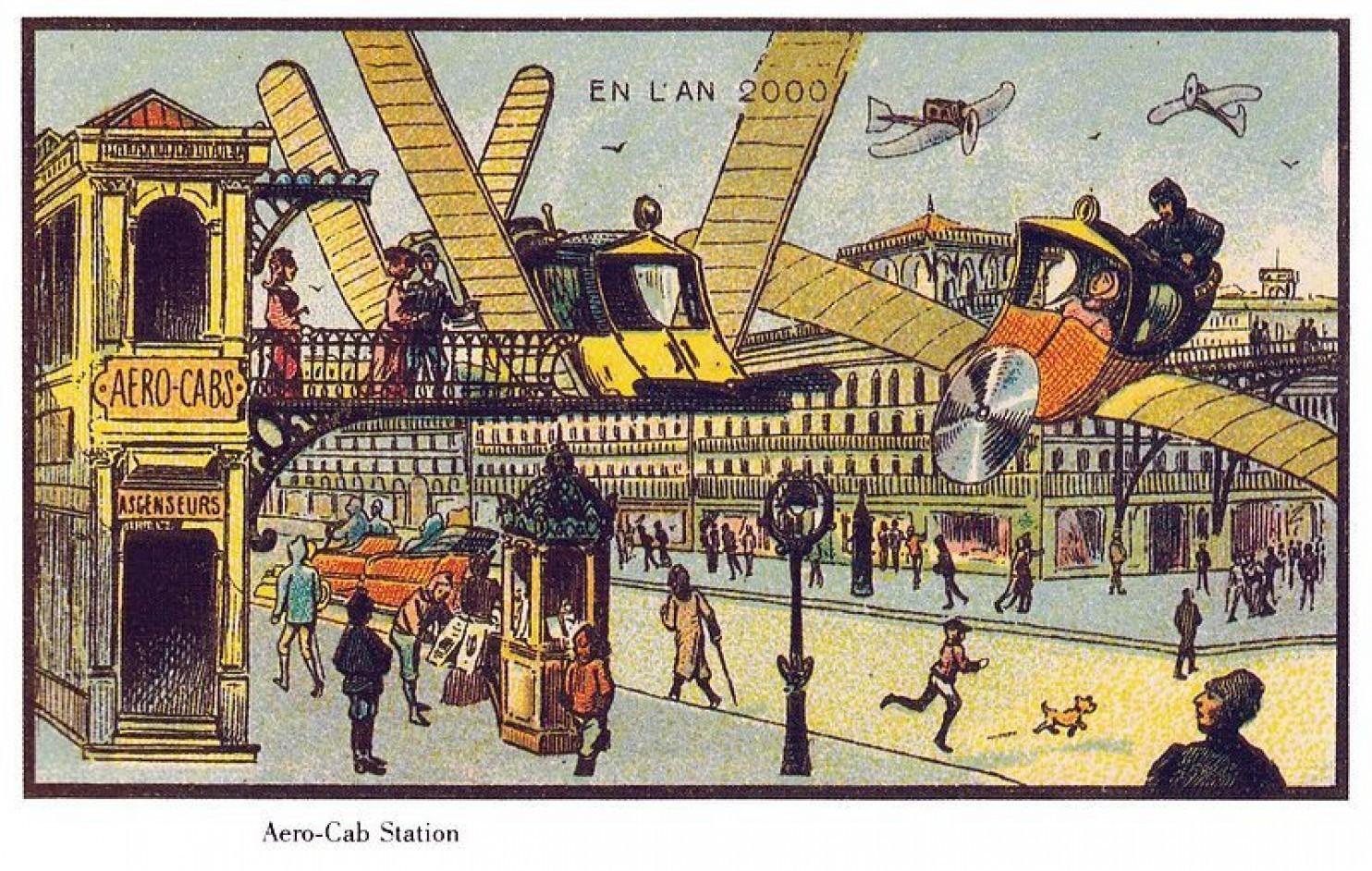 como imaginaban el futuro en 1900 ilustraciones 12