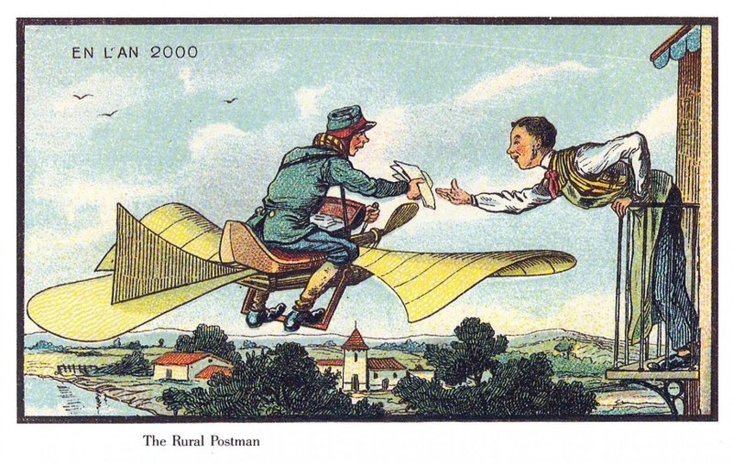 como imaginaban el futuro en 1900 ilustraciones 13