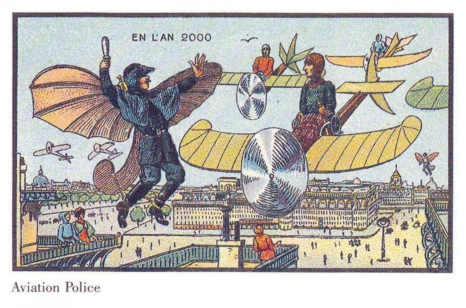 como imaginaban el futuro en 1900 ilustraciones 14