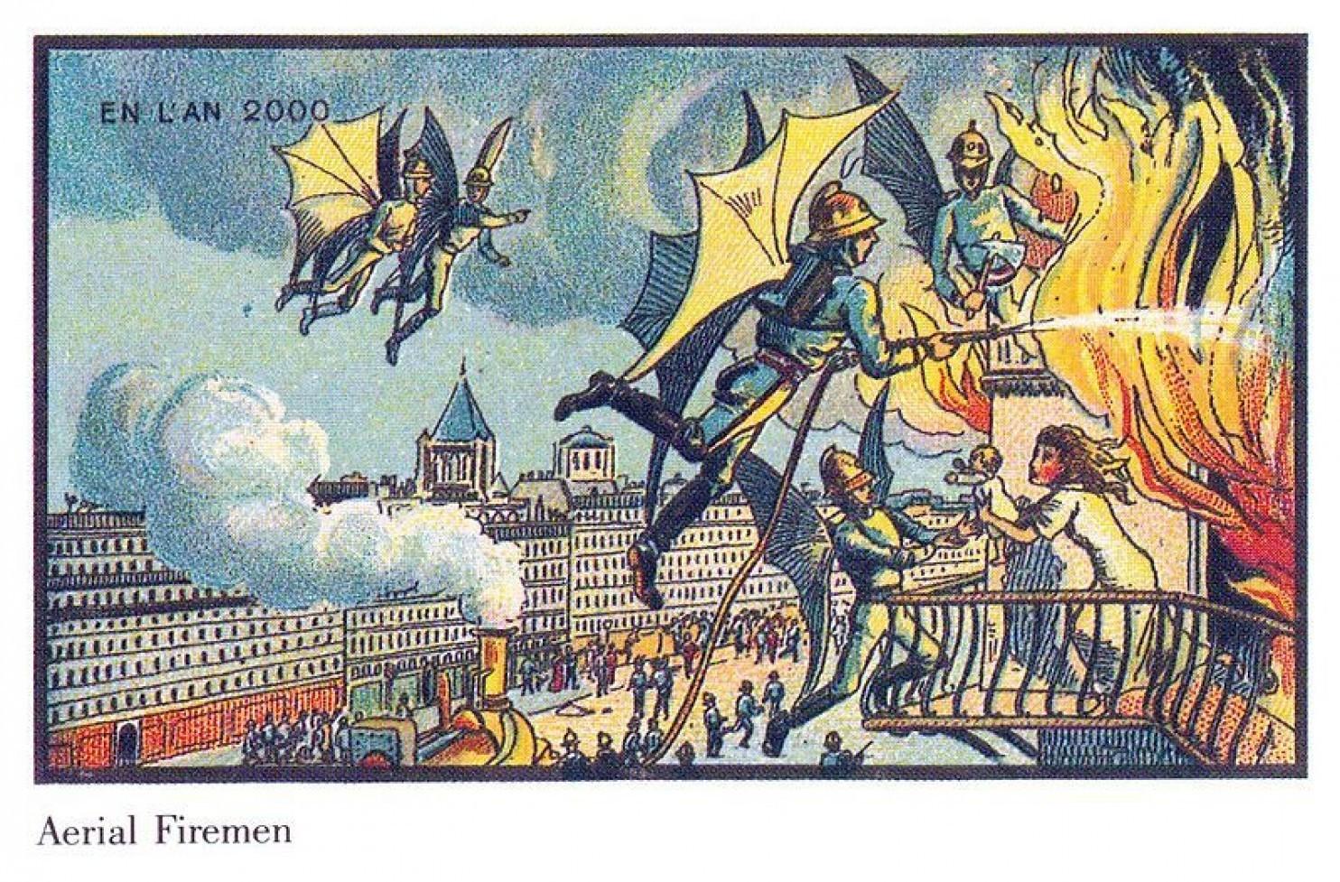 como imaginaban el futuro en 1900 ilustraciones 15
